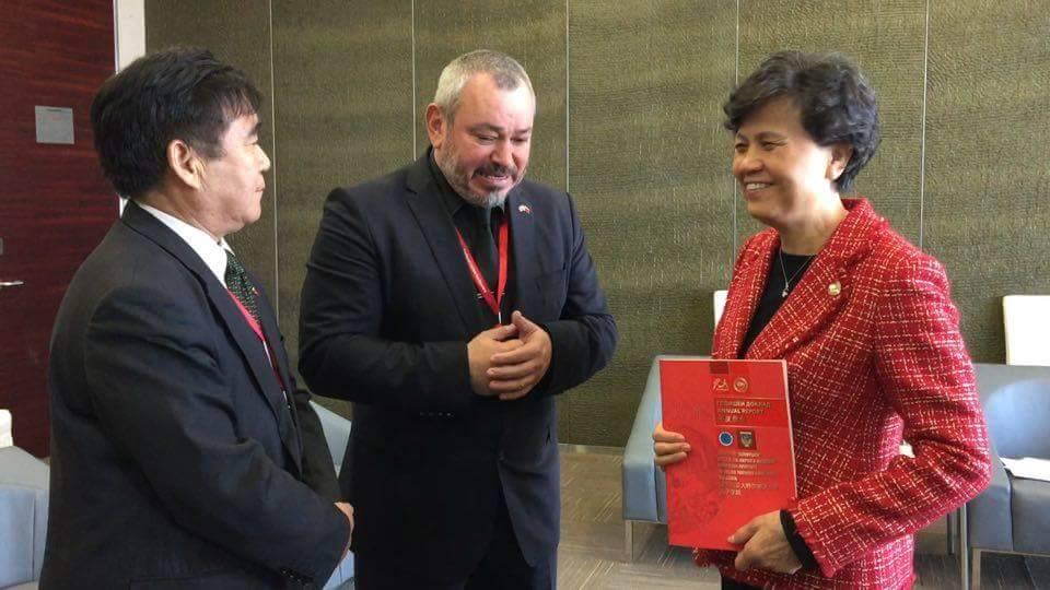 Откриването на Институт Конфуций - ВТУ с проф. Легкоступ, г-жа Сю Лин и проф. Гъ Джъцян